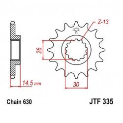Transmission -  Pignon sortie boite - JTF 335 - 630/15 dents