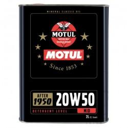 Moteur - Huile minerale - Motul - 20W50  - 2 Litres