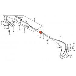 Moteur -  joint intermediaire d'echappement - MTX50