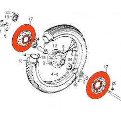Frein - Disque Avant - Droit/Gauche - GL1000