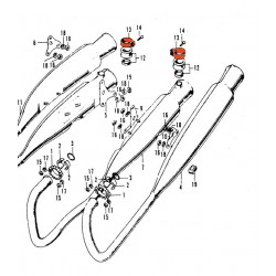 Echappement - Collier de fixation verticale - CB500K0-K1-K2