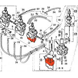 Carburateur - Cuve - Gauche - Honda ...