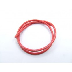 Bougie - cable SILICONE ø 7mm -  Rouge - 1metre - fil de bougie