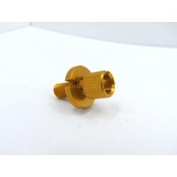 Arret gaine - tendeur de cable - Alu, eloxé orange - M8 x1.25 - 53192-268-000