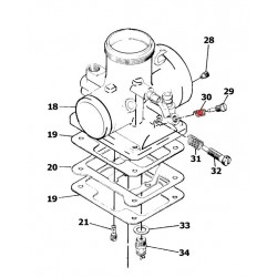 Carburateur - Ressort de vis de reglage - M12F/46