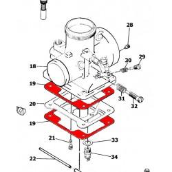 Carburateur - Joint de cuve - VM28/129