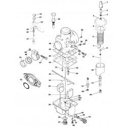 Carburateur VM - Eclaté - details des pieces constitutives
