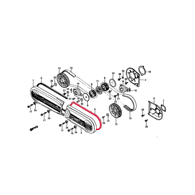 Distribution - Joint de carter avant Gauche - GL1000-GL1100