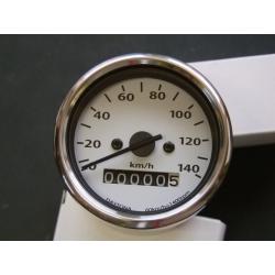 Compteur Kilométrique mécanique  - Café Racer - Roue de 15 à 18 Pouce