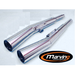 Echappement - CB750/900/1100 K/F/R - Silencieux 4en2 - Marving