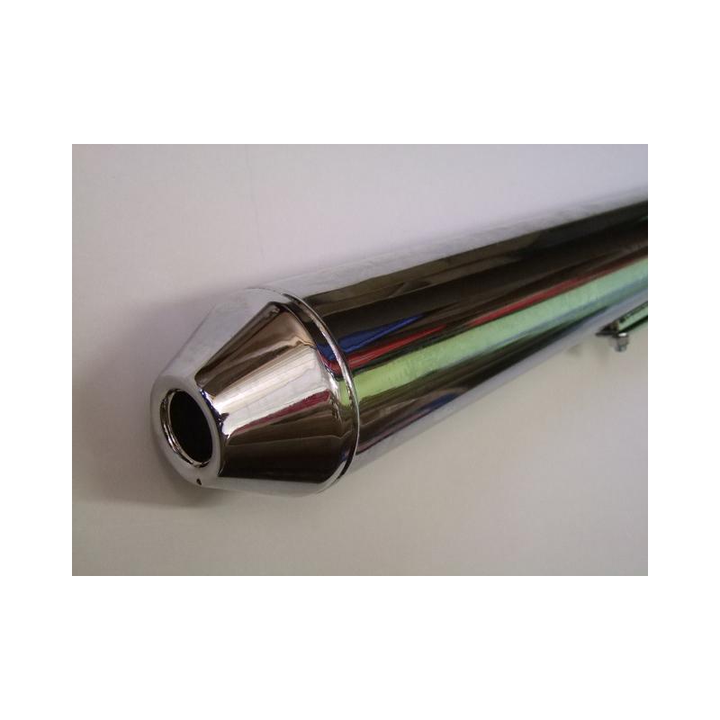 Echappement - Silencieux - Chrome - Long 67cm