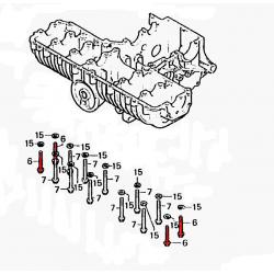 Vis (x4)  de serrage extérieur du moteur  M8x70 - 10.9