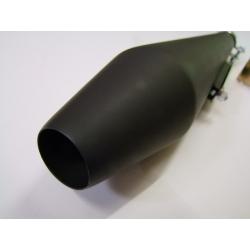 Echappement - Silencieux - Megaphone - (megaton) - NOIR - long 48cm