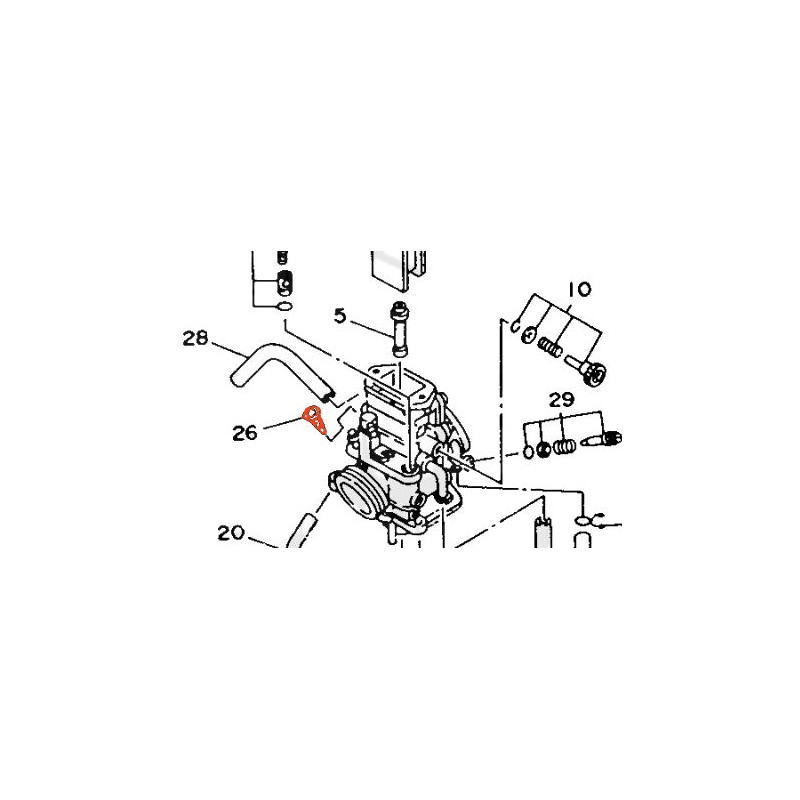 TZR125 - (....) - 1993-1995 - Filtre essence de carburateur - 1KT1499400