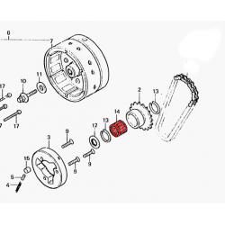 Roulement aiguille - 28x33x26mm -GL 1000 - GL1100