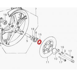 Roue Avant - Joint Cache poussiere - 40x50x5mm