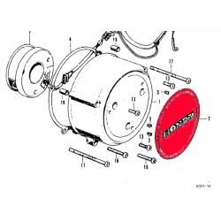 Carter alternateur - protection - CB500K