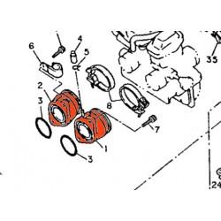 Carburateur - Pipe Admission - Dr. + Ga. - 1VJ-13586-00