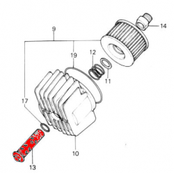 Filtre a huile - Vis - CB 400/550/650/750/900/1100