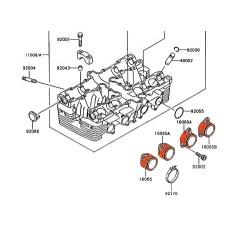 Moteur - Pipe admission - GT550 - 1991-1993