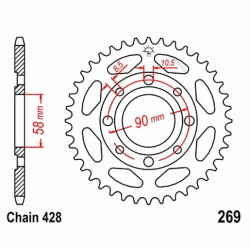 Transmission - Couronne JTR269 - 428/36 dents