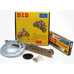 Kit chaine DID - 428/112-39-15 - Noir - Ouvert - CB125T