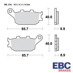 Frein - Plaquette - EBC - Ceramique - FA174