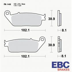 Frein - Plaquette Standard - EBC - FA-142
