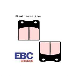 Frein - Etrier - Plaquette - EBC - Metal fritté - Hypersport - FA103-HH
