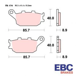 Frein - Plaquette - EBC - Metal fritté - Hypersport - FA-174HH