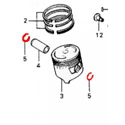 Moteur - Piston - circlips d'axe - 13mm - (x1)