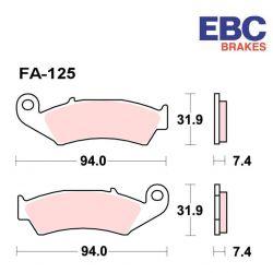 Frein - Etrier - Plaquette - EBC - Metal fritté - Hypersport - FA-125-HH - (MXS)