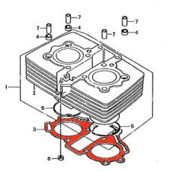 Moteur - Joint d'embase - CM125 - CM185 - CB125T - CM200/250...