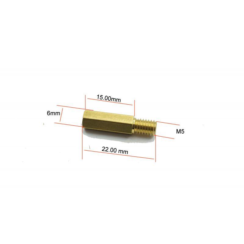 Gicleur M5x0.80 - Hex 6.0 - Lg 22.0 - ø 1.80 mm