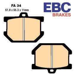 Frein - plaquette - EBC - Semi-Synthetic - FA034V