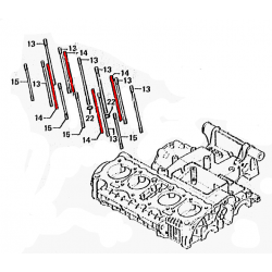 Moteur - Goujon - (x1) - Bloc Cylindre