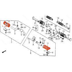 Cale Pied - Caoutchouc de remplacement - (x1) - (Honda)