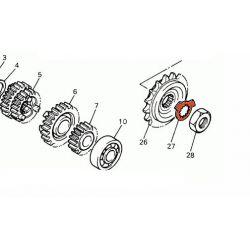 Pignon sortie boite - Rondelle crantée - 902-15210-22