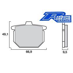Frein - Plaquette - CarboneLoraine - Organic - A3+