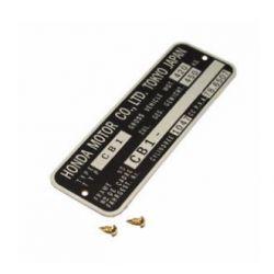 Decoration - Plaque de cadre - CBX1000 - (CB1) + rivet