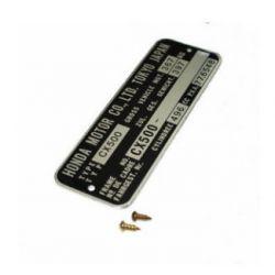 Decoration - Plaque de cadre - CX500 + rivet