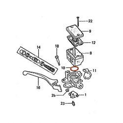 Frein - Maitre cylindre Avant - 2 vis - Joint de bocal - ø26x2.20