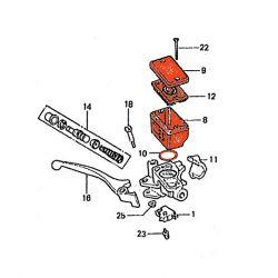 Frein - Maitre cylindre Avant - 2 vis - Kit Reservoir - bocal Avant