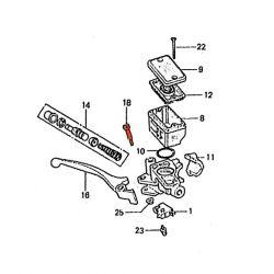 Frein - Maitre cylindre Avant - 2 vis - Boulon - Pivot de levier