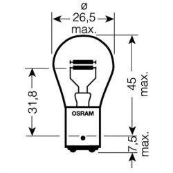 Ampoule - 12v - 21w/5w - BAY15D - Veilleuse/Stop
