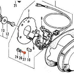 Allumage - Vis platinée - Vis de fixation - M4 x5mm - INOX