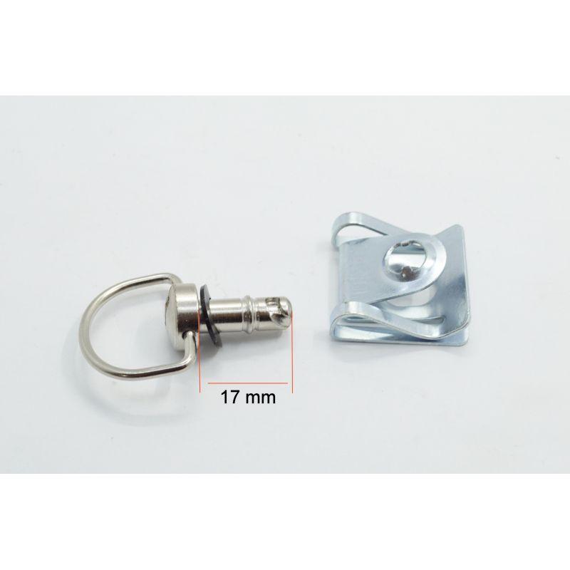Attache rapide - carenage - Dzeus (dzus) - 17 mm - a clipser