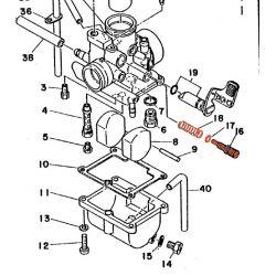 Carburateur - Vis de reglage - RD125 / RD200
