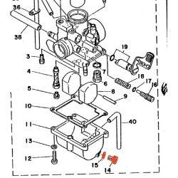 Carburateur - Vis de reglage - ralenti - RD125 / RD200