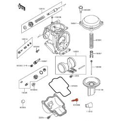 Carburateur - Vis de Purge de cuve - 92009-1551 - Kawasaki (ZXR, ZZR .....) - Yamaha (FZR-YZF ...)